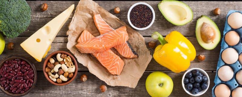 Keto diet . Healthy background. Keto diet ingredient . Healthy background . Ketogenic protein food royalty free stock image