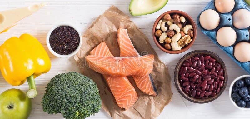 Keto diet . Healthy background. Keto diet ingredient . Healthy background . Ketogenic protein food royalty free stock photos