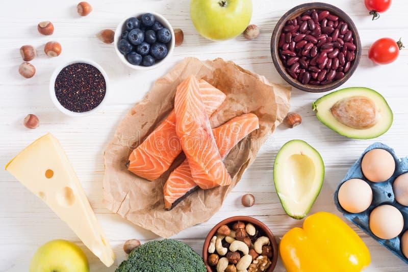 Keto diet . Healthy background. Keto diet ingredient . Healthy background . Ketogenic protein food stock image