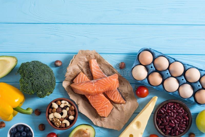 Keto diet . Healthy background. Keto diet ingredient . Healthy background . Ketogenic protein food stock photos