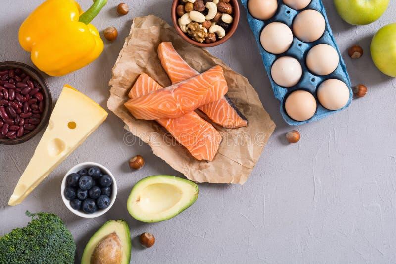 Keto diet . Healthy background. Keto diet ingredient . Healthy background . Ketogenic protein food stock photo