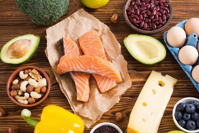Keto diet . Healthy background. Keto diet ingredient . Healthy background . Ketogenic protein food stock images