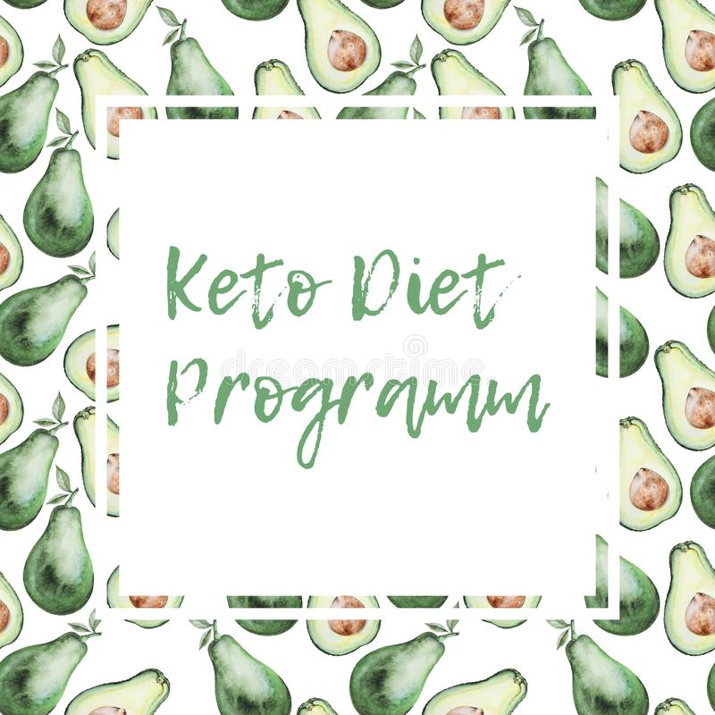 Keto diet template vector illustration