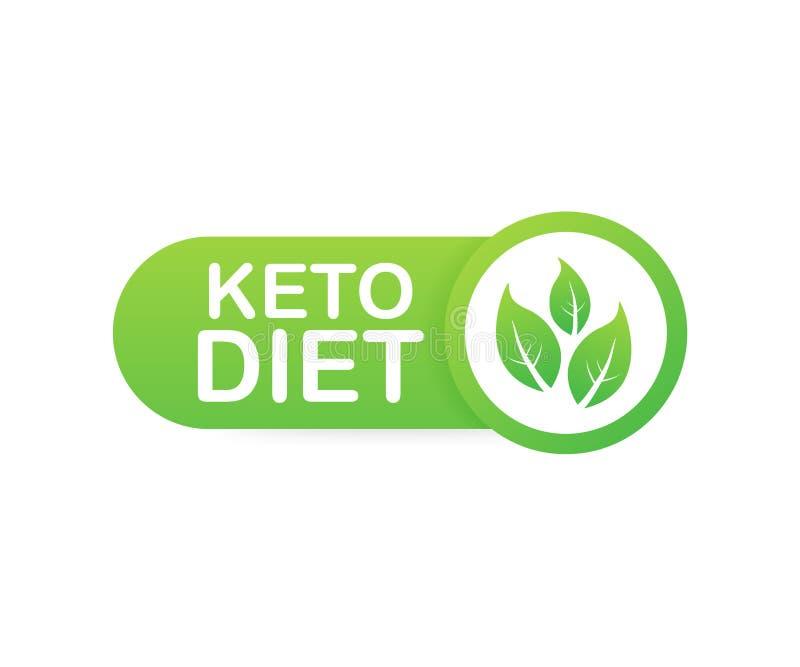 Ketogenic знак логотипа диеты Диета Keto также вектор иллюстрации притяжки corel иллюстрация вектора