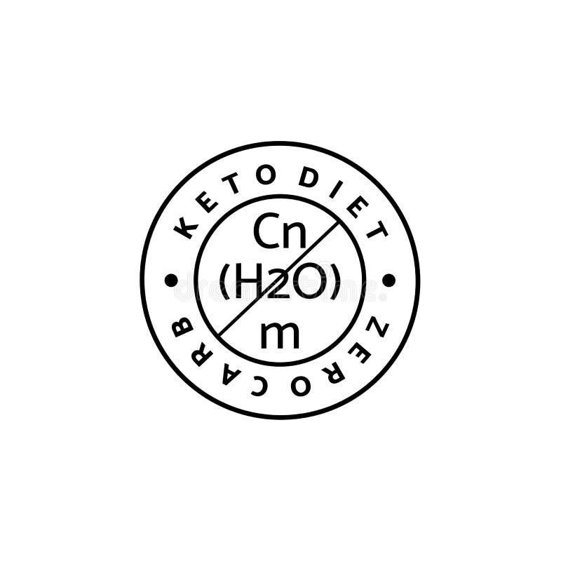 Ketogenic Dieet om Logo Line Style Minimalisticpictogram van vrije carburatoren royalty-vrije illustratie