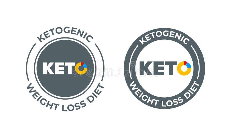 Ketogenic dieet vectorpictogram 100 percentenketo het etiket van de dieetvoeding vector illustratie