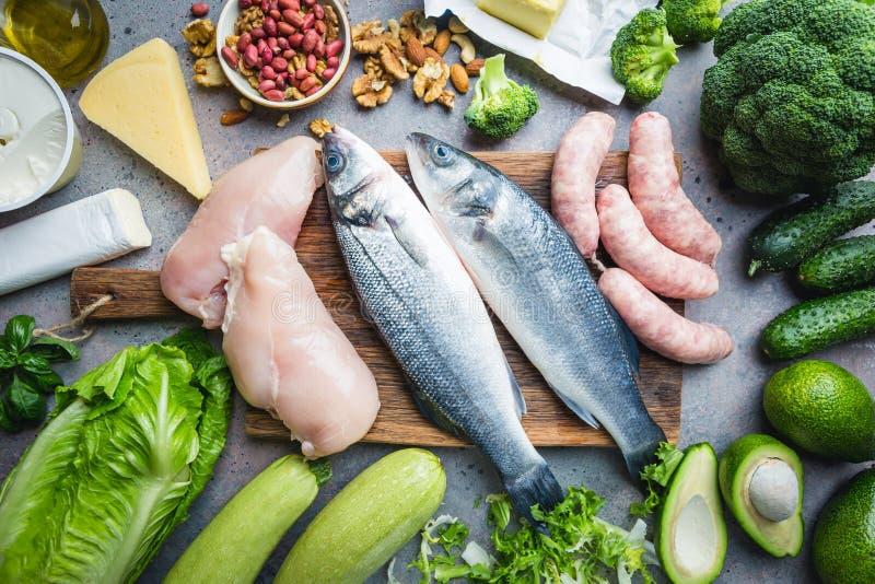 Ketogenic dieetconcept royalty-vrije stock afbeelding