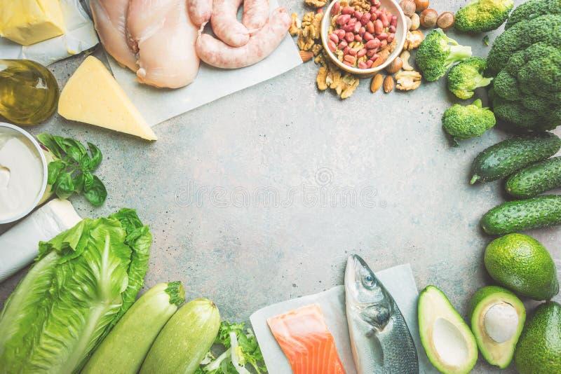 Ketogenic dieetconcept royalty-vrije stock afbeeldingen