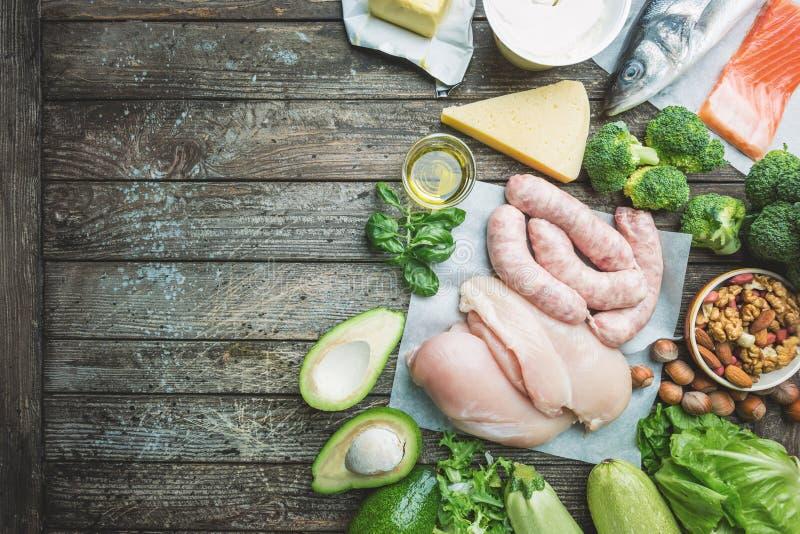 Ketogenic dieetconcept stock afbeelding