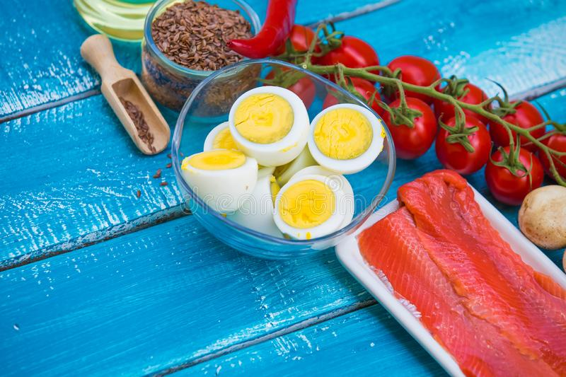 Ketogenic diet low carb foods stock images