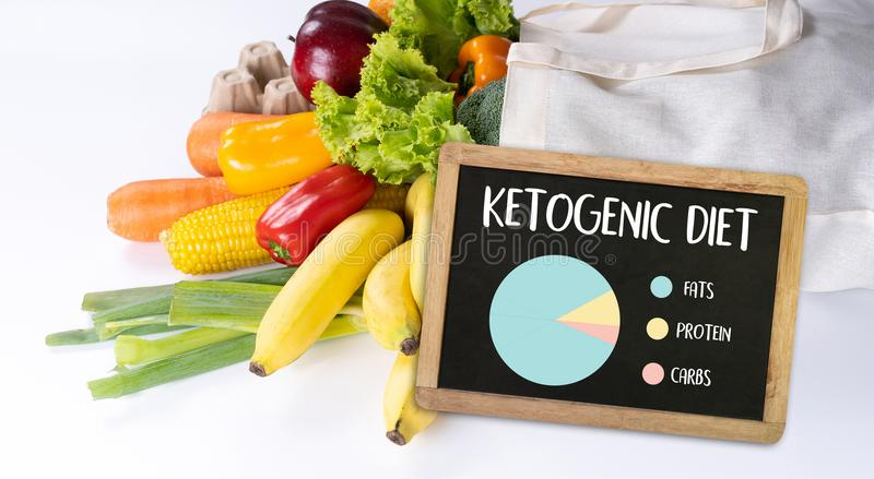 Ketogenic diet Organic grocery vegetables Healthy low carbs. Concept royalty free stock photos
