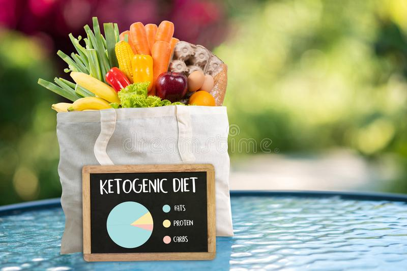 Ketogenic diet Organic grocery vegetables Healthy low carbs. Concept stock images