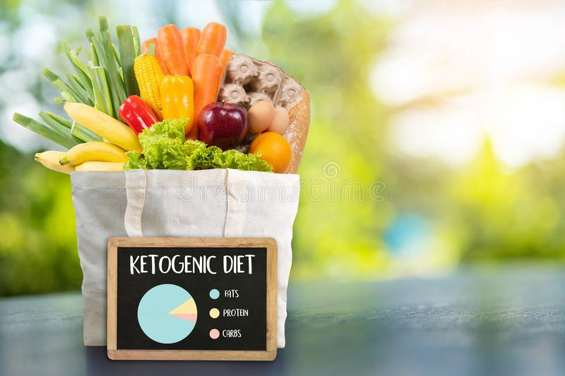 Ketogenic diet Organic grocery vegetables Healthy low carbs. Concept royalty free stock photography