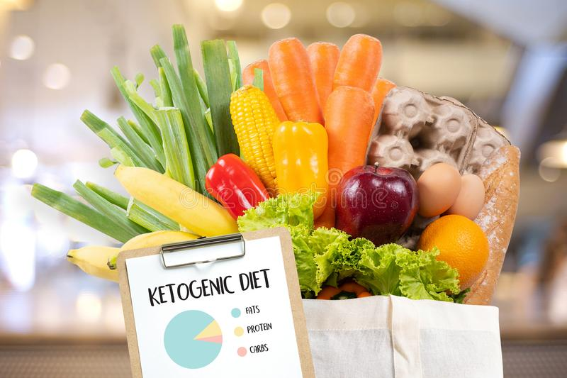 Ketogenic diet Organic grocery vegetables Healthy low carbs. Concept stock photo