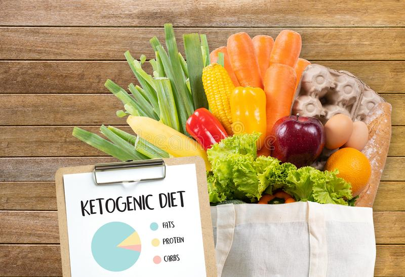 Ketogenic diet Organic grocery vegetables Healthy low carbs. Concept stock photography
