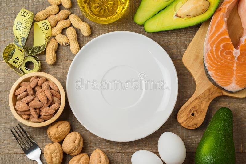 Ketogenic low carbs diet concept royalty free stock photography