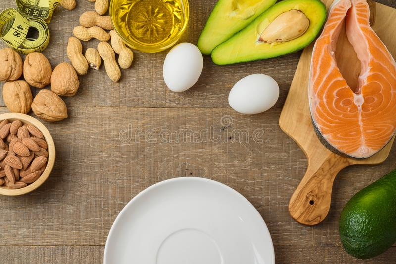 Ketogenic low carbs diet concept stock photography