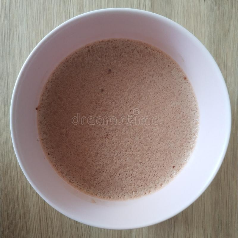 Ketogenic meal, chocolate cream pudding. Keto food for weight loss. Healthy diet. Ketogenic meal, chocolate cream pudding. Keto food for weight loss. Healthy royalty free stock image