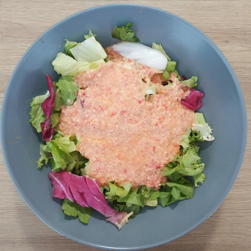 Ketogenic meal, paprika tomato cottage cheese lettuce. Keto food for weight loss. Healthy diet weight loss stock photography