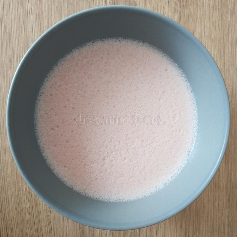 Ketogenic meal, strawberry cream pudding. Keto food for weight loss. Healthy diet snack. Ketogenic meal, strawberry cream pudding. Keto food for weight loss royalty free stock photos