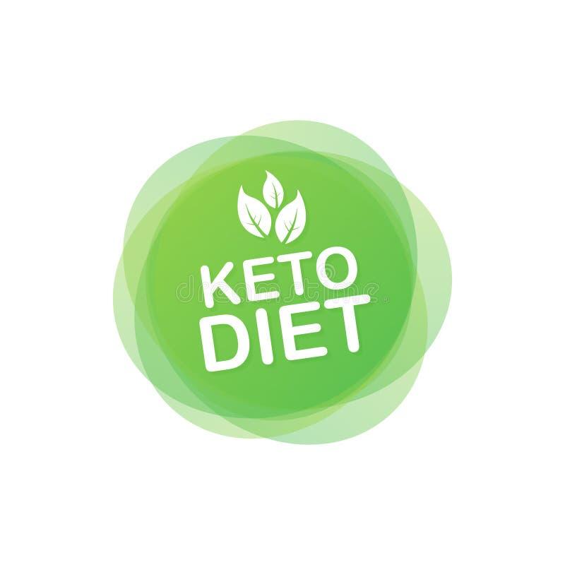 Ketogenic teken van het dieetembleem Keto dieet Vector voorraadillustratie royalty-vrije illustratie