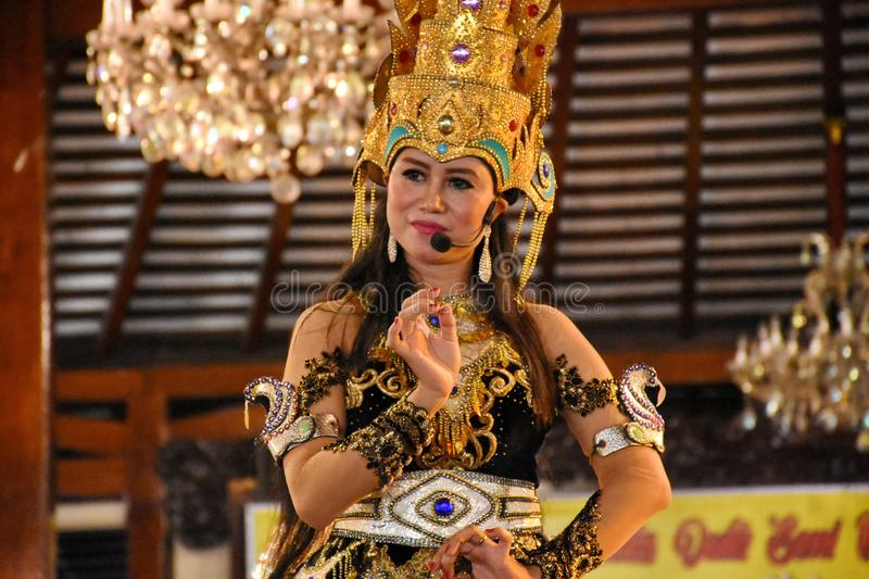 Ketoprak is a story about the ancient Javanese kingdom, and the latest story modified by the Javanese dialogue stock photos