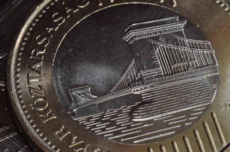 Kettenbrücken-Münze stockfoto