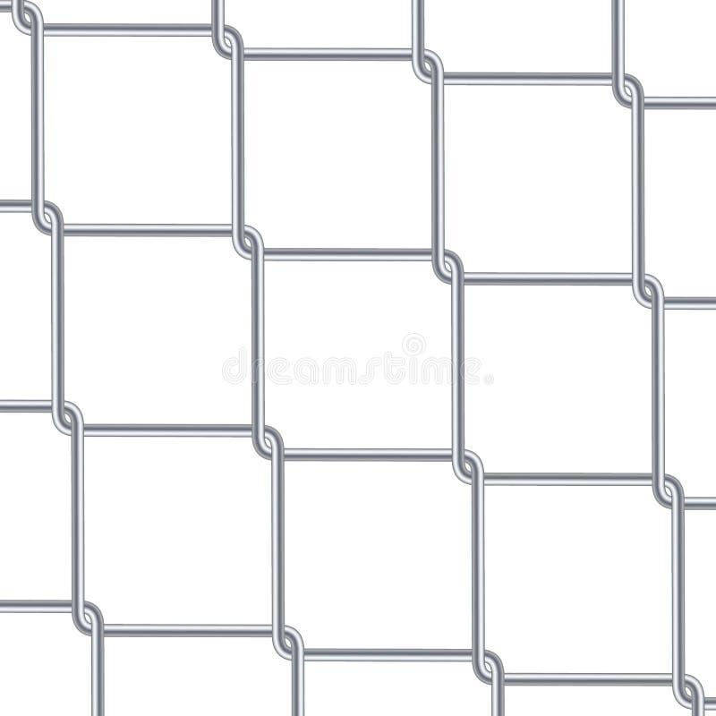Kettenglied-Zaun Background Industrielle Arttapete Realistische geometrische Beschaffenheit Stahldrahtwand lokalisiert auf Weiß V vektor abbildung