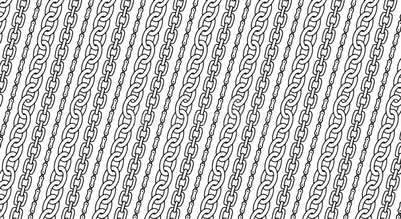 Kettenmuster für dekorativen Entwurf Dekorativer Streifenhintergrund Modedruckhandgezogene Beschaffenheit Vektor lizenzfreie abbildung
