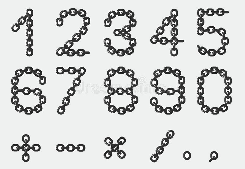 Kettennummern stock abbildung