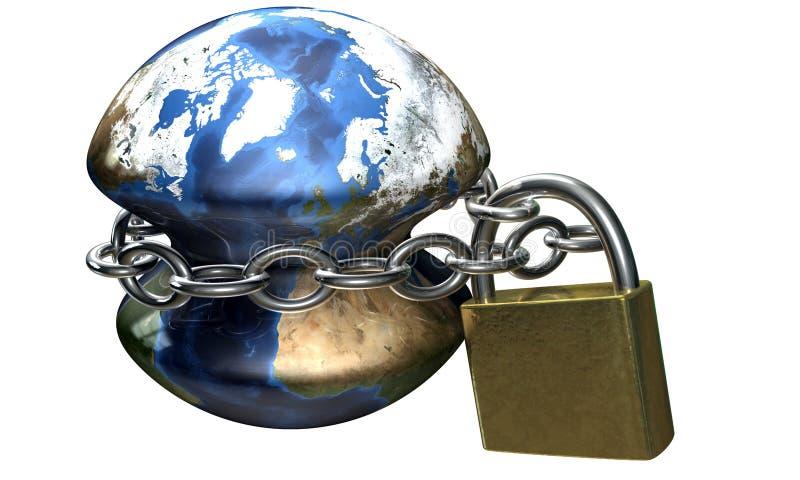 Ketting rond aarde royalty-vrije illustratie