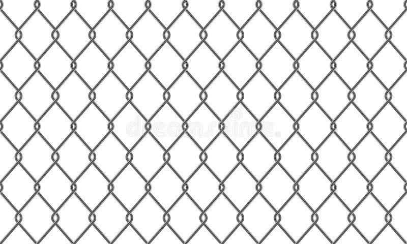 Ketting-verbinding omheining of het patroonachtergrond van het draadnetwerk vector illustratie