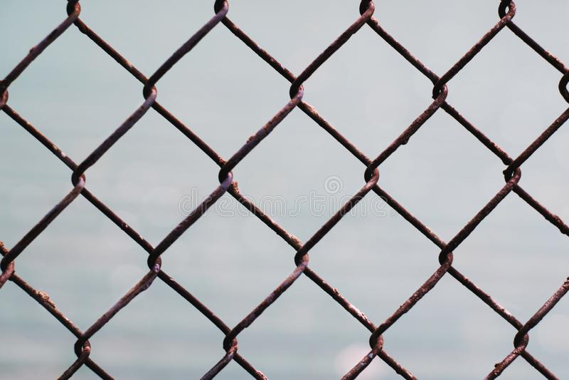 Ketting-verbinding schermend patroon stock foto
