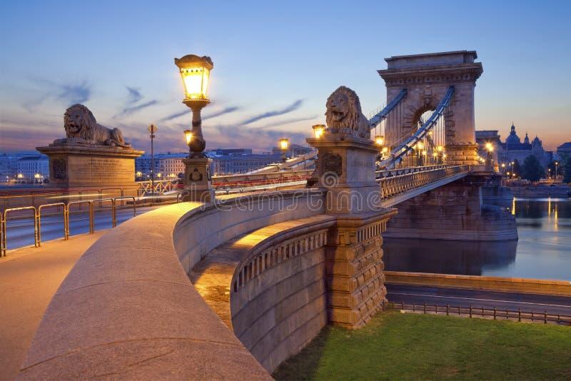 Kettingsbrug, Boedapest. stock afbeeldingen