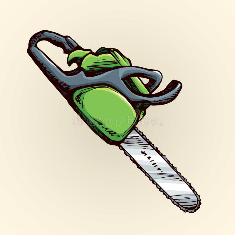 kettingzaag Vector tekening vector illustratie