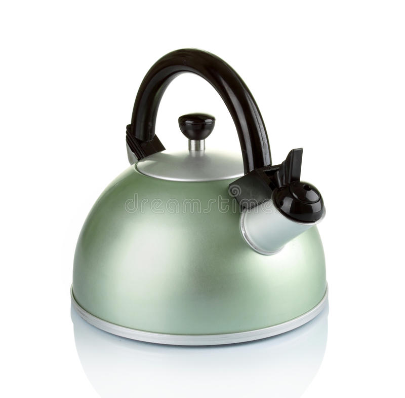 Kettle. Image of kitchen ware. Kettle. in white background royalty free stock photo