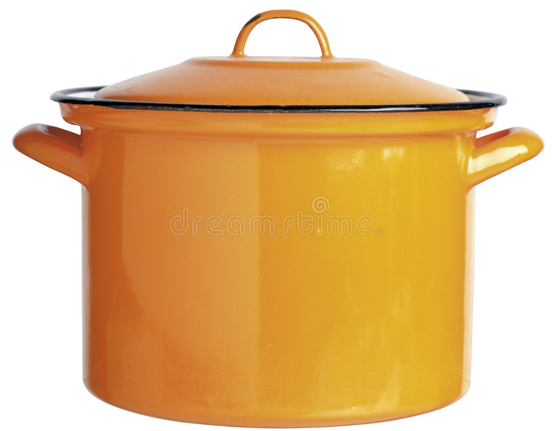 Kettle. Hand made clipping path included royalty free stock photography