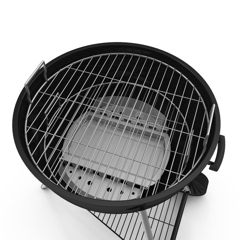 Kettle barbecue grill with cover isolated on white. Kettle barbecue grill with cover isolated on white background stock images