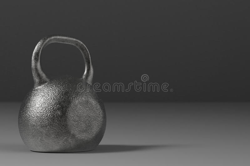 Kettle bell. 3d rendering black kettle bell for weight training stock photography