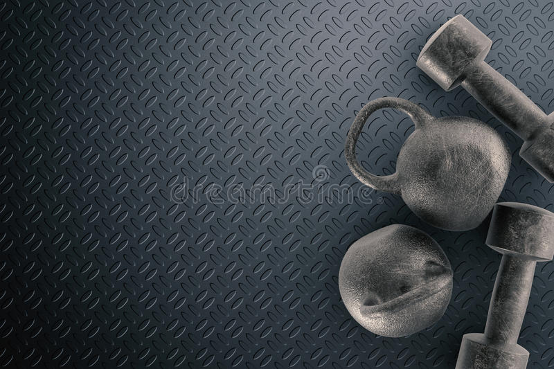 Kettle bell. 3d rendering black kettle bell for weight training stock photos