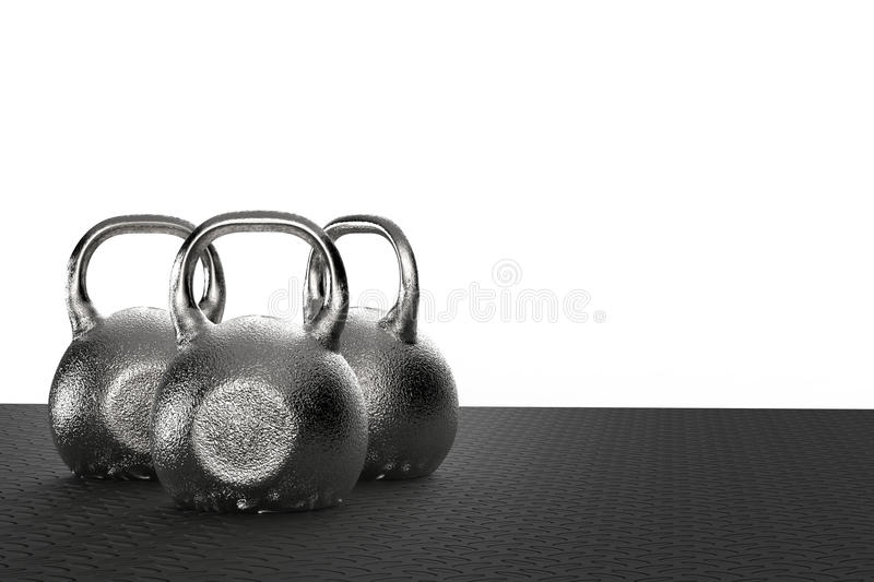 Kettle bell. 3d rendering black kettle bell for weight training royalty free stock photo
