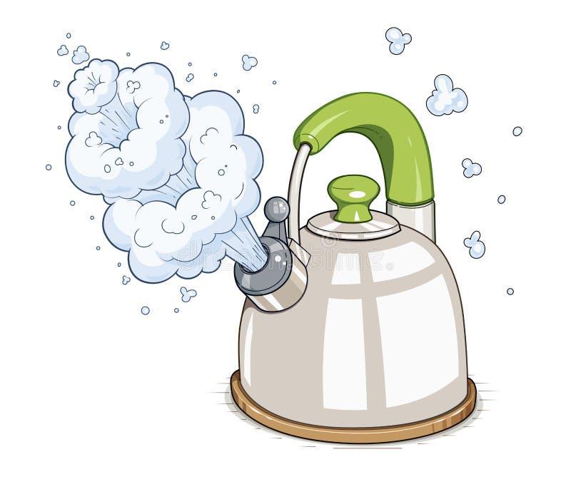 Kettle boil stock illustration