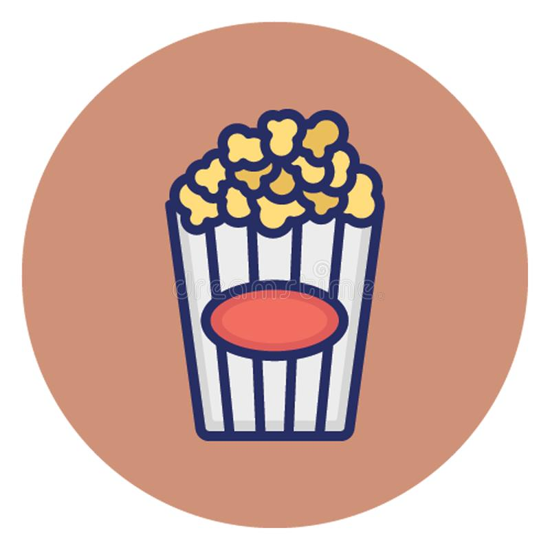 Kettle corn, popcorn Vector Icon which can easily edit royalty free illustration