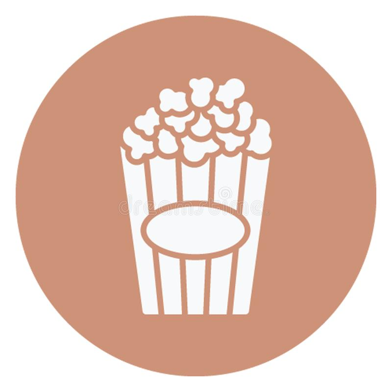 Kettle corn, popcorn Vector Icon which can easily edit stock illustration