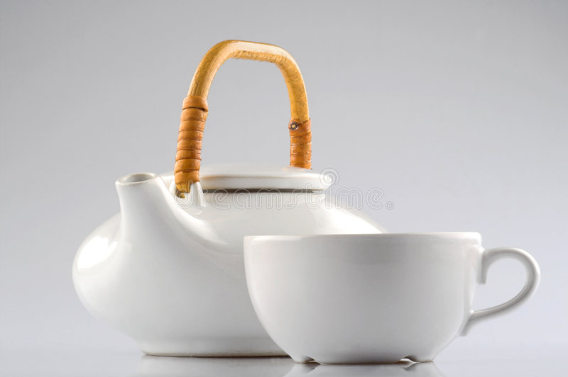 Kettle and cup royalty free stock image