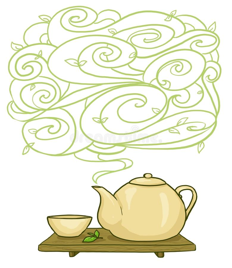 Download Kettle and cup background stock illustration. Image of board - 23612797