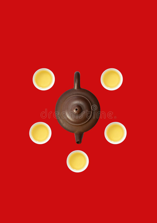 Download Kettle with cups stock photo. Image of chinese, asia - 23753862