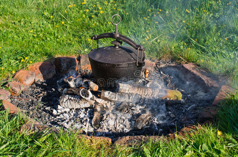 Kettle On Fire Stock Photography