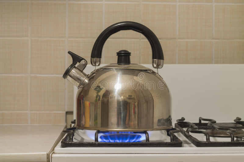 The kettle is on stock photography