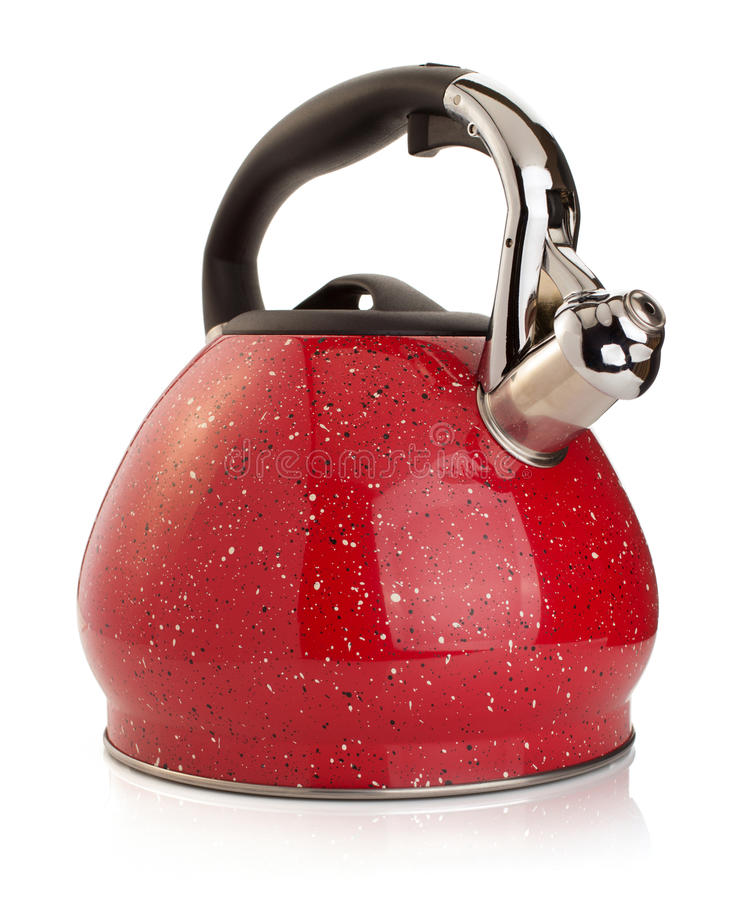 Kettle isolated on white royalty free stock photos